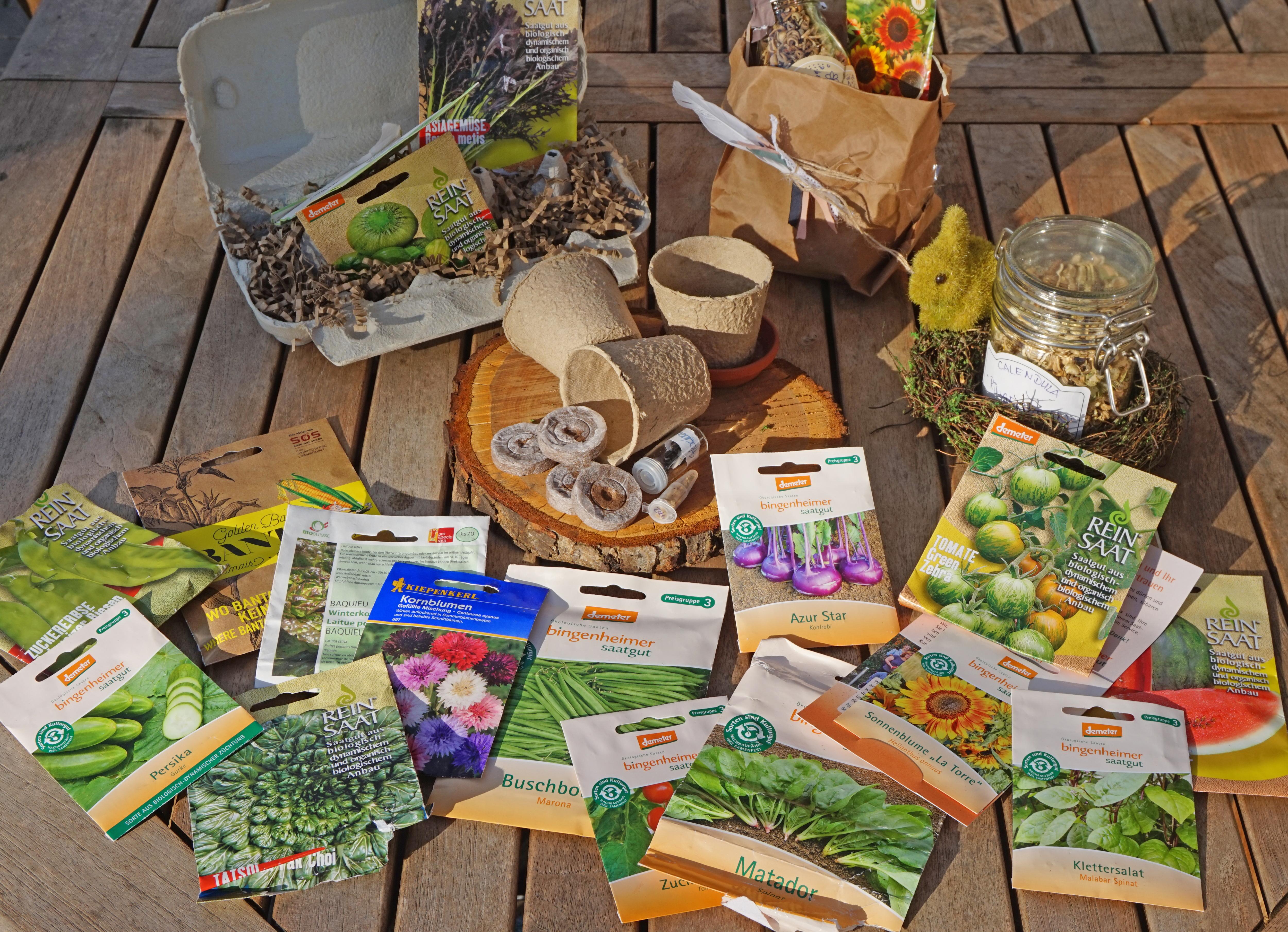 Samentütchen Auswahl um Gemüse selber zu säen